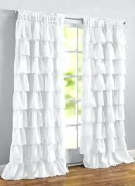 Pink Ruffle Curtains Uk by White Ruffle Curtains 96 Inch White Ruffled Curtains Shabby Chic