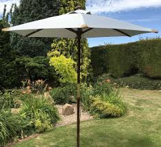 100 Wooden Parasol 2m Large Hardwood Pulley Garden Umbrella 10 Colours
