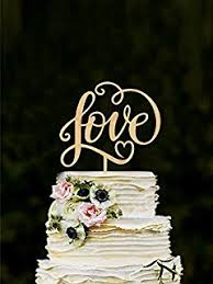 Love Wedding Cake Topper Unique Toppers For Weddings Letter Wooden