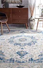 teppich bonifant in blau weiß teppich blau grau teppich