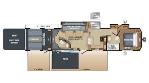 5th Wheel Toy Hauler Floor Plans by Jayco Seismic 4113 5th Wheel Toy Hauler Floor Plan