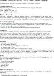Resume For Dialysis Technician Nurse Travel Registered