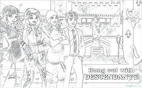 Descendants Coloring Pages Pictures Design For Kids Jay