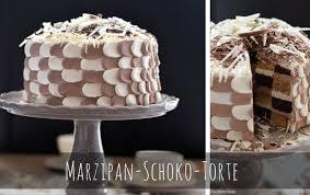 eine mustertorte marzipan schokolade torte