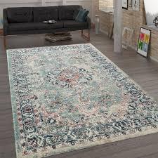 trendiger flachgewebe teppich ornamente mehrfarbig