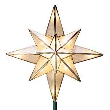 GE 10 In Star Off White Christmas Tree Topper