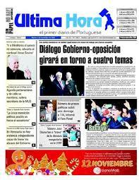 Edicion 01 11 2016 by Ultima Hora El primer diario de Portuguesa