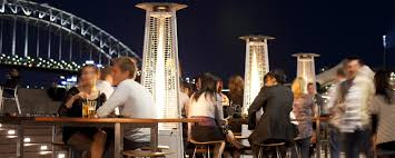 Pyramid Patio Heater Hire by Climate Australia Firestick Patio Heater Sydney Opera Bar