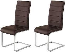 2 x agionda freischwinger jan piet braun mit hochwertigem pu kunstleder neu jetzt 120 kg belastbar einteiliges gestell stuhl polsterstuhl