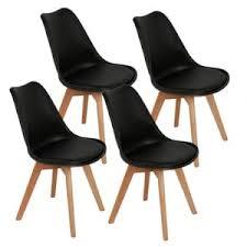 wyctin esszimmerstühle küchenstuhl 4 er set schwarz
