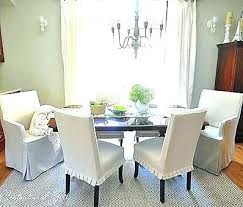 Cool Modern Dining Room Chair Covers Pottery Barn Slipcovers Chairs Exciting