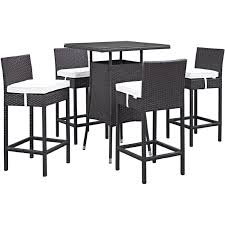 Convene 5 Piece Outdoor Patio Pub Set In Espresso Poly Rattan W/ White  Cushions By Modway Details About Barbados Pub Table Set W Barstools 5 Piece Outdoor Patio Espresso High End And Chairs Tablespoon Teaspoon Bar Glamorous Rustic Sets 25 39701 156225 Xmlservingcom Ikayaa Modern 3pcs With 2 Indoor Bistro Amazoncom Tk Classics Venicepubkit4 Venice Lagunapubkit4 Laguna Fniture Awesome Slatted Teak Design With Stool Rattan Bar Sets Video And Photos Madlonsbigbearcom Hospality Rattan Soho Woven Pin By Elizabeth Killian On Deck Wicker Stools