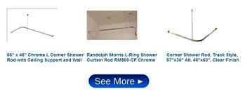 Menards Curtain Rod Finials by Telescopic L Shaped Shower Curtain Rod Chrome Scandlecandle Com