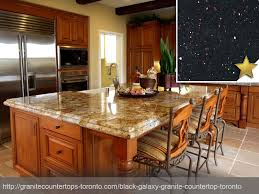 Black Galaxy Granite Countertop Design Idea Kitchen