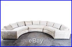 mid century modern sectional sofa couch milo baughman thayer