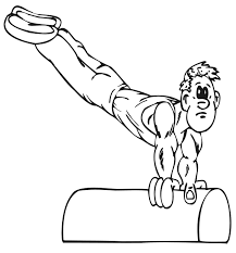 Free Gymnastics Coloring Pages