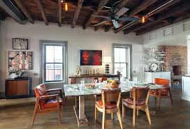 Ceiling Fans For Dining Rooms Contemporary Room With High Hardwood Floors Exposed Beam