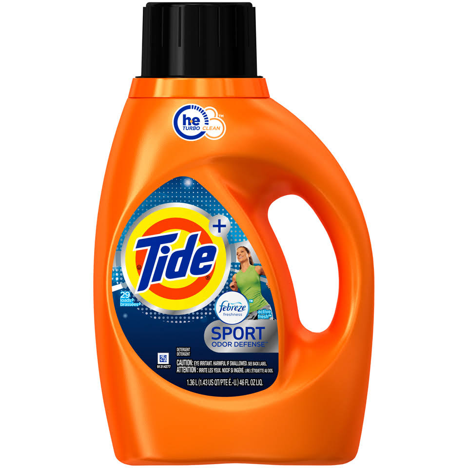 Tide Febreze Freshness Sport Liquid Laundry Detergent - Active Fresh, 46oz