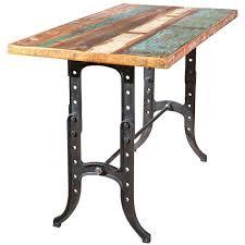 cuisine bois fille table haute bois metal beautiful amazing table cuisine haute but