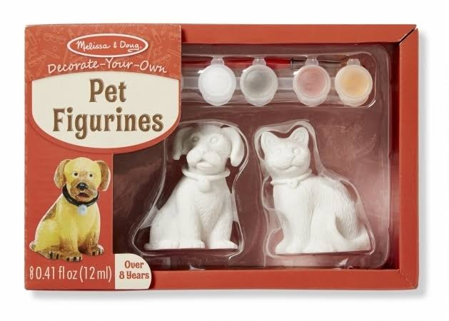 Melissa & Doug Decorate-Your-Own Pet Figurines Craft Kit - Cat & Dog