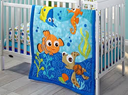 amazon com disney nemo 3 piece crib bedding set baby