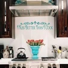 I Kiss Better Than Cook Wall Art Decal Vinyl Lettering Kitchen Decor