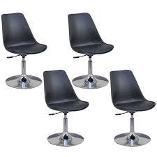 esszimmerstühle 4 stk höhenverstellbar drehbar schwarz