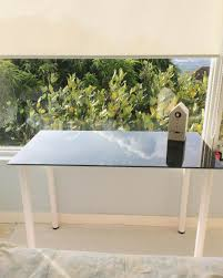 Vivianna Does Makeup Ikea Desk by If The Glass Desk Fits Ikea Glasholm Php3900 Bless My Bag
