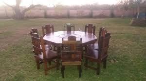 8 Seater Sleeperwood DiningRoom Suite For Sale