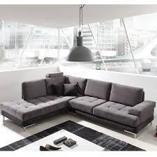 canap d angle tissus gris canapé angle gris et noir en tissu sofamobili