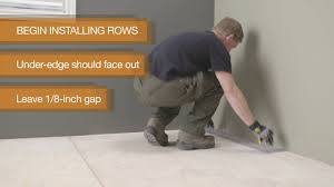 Grip Strip Vinyl Flooring by How To Install Allure Gripstrip Flooring Youtube