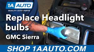 how to replace install headlight bulbs 1996 gmc buy quality