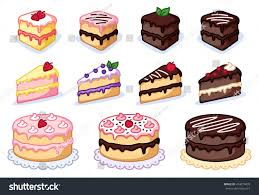 Cake clipart set colorful cakes vector illustration sweet clipart pastry clipart