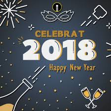 Happy New Year 2018 Celebration Creative Design Template Indiater