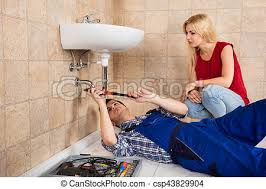 reparatur klempner badezimmer junger sinken mann
