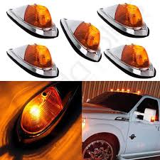 100 Truck Marker Lights 5pcs Teardrop Amber Cab Roof Semi Trailer Clearance