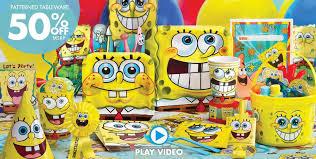 Halloween City Mcallen Tx Hours by Spongebob Party Supplies Spongebob Birthday Ideas Party City