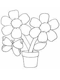 Flower And Butterfly Coloring Pages