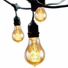 bulbrite outdoor string light w vintage 15 edison a19 light bulbs