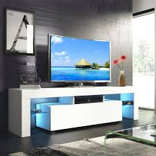 LED TV Stand Cabinet Backlight Shelves Storage Living Room