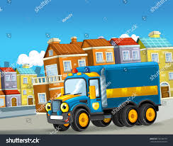 100 Funny Truck Pics Happy Cartoon Police Looking Stock Illustration