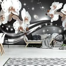 vlies fototapete 3d effekt blumen abstrakt orchidee