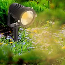 Cob Led Lawn Lights Garden Spot Lamp Spike Landscape Path Lighting Standard Model Is