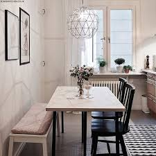 Love The Light Fixture And Seating Styles How To Style A Small Dining Space