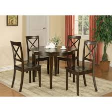 Details About East West Furniture Boston 3 Piece Round Dining Table Set  With Wooden Seat