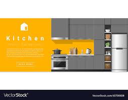 Interior Design Modern Kitchen Background 5 Stock Vektor Interior Design Modern Kitchen Background 5 Vector Image