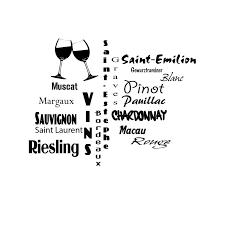 cuisine vins sticker grands vins français adhésif décoratif autocollant pour