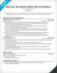 Banking Resume Format Retail Help Sector Cv