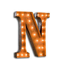 Vegas Metal Led Circus Letter Light P By All Things Brighton