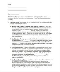 Inspirational Letter Intent to Purchase